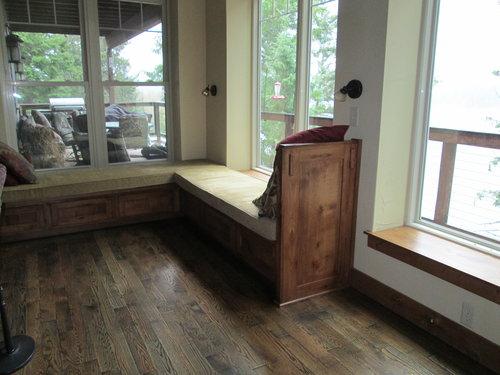 Rustic hickory window seat